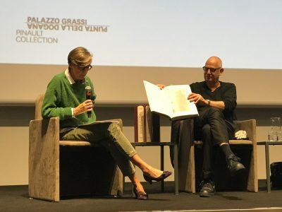 Book Presentation at the Palazzo Grassi on October 9, 2019. Eva Meyer-Hermann and Luc Tumans.