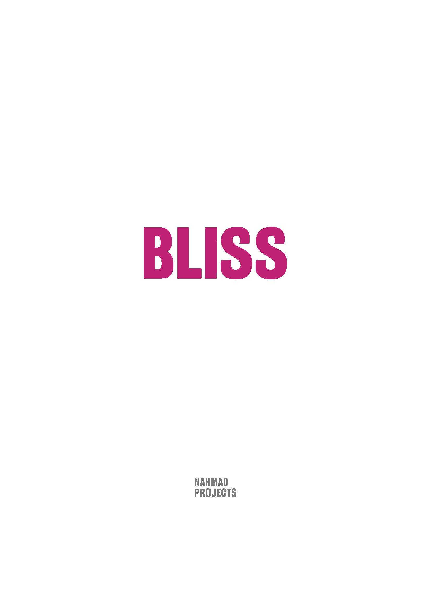Nahmad Projects Bliss Catalogue Seite 01