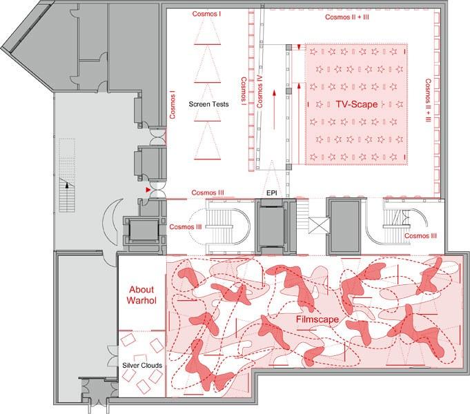 Grundriss der Ausstellung
