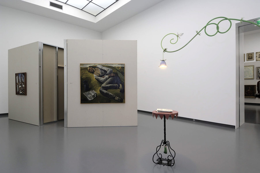 Installation view with artwork by Lukas Duwenhögger & from the collection