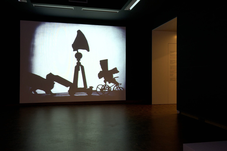 Installation view with artwork by William Kentridge