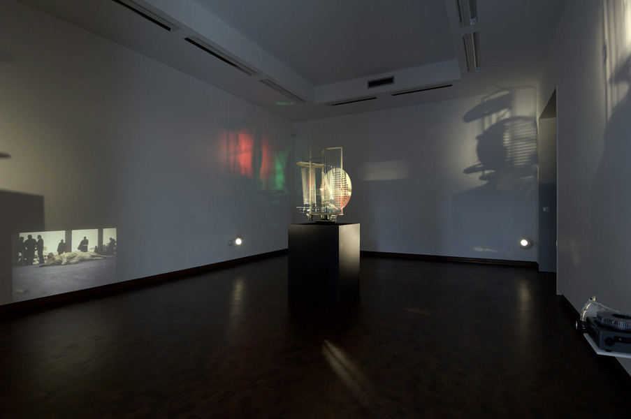 Installation view with artwork by Francis Alÿs & László Moholy-Nagy