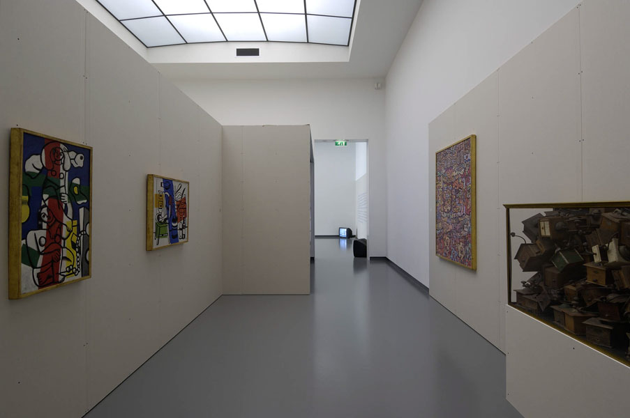 Installation view with artwork from the collection