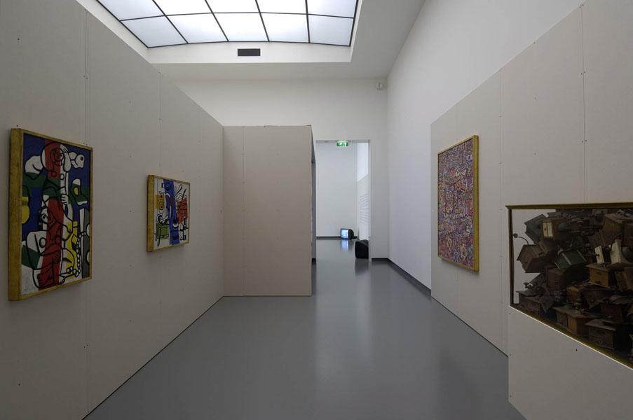 Installationsansicht mit Werken aus der Sammlung