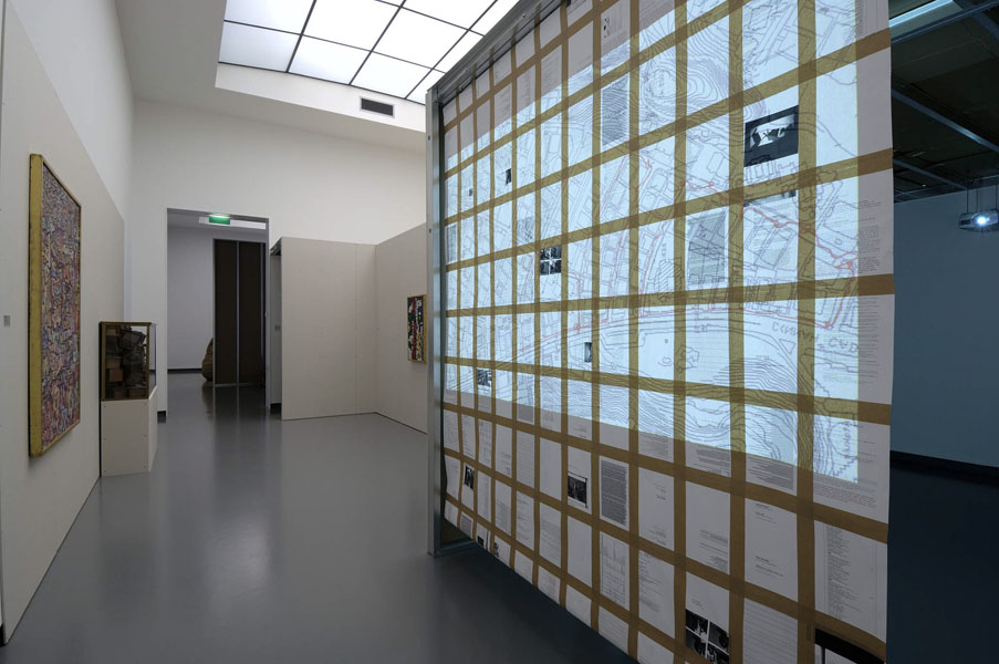 Installation view with artwork by Can Altay & from the collection