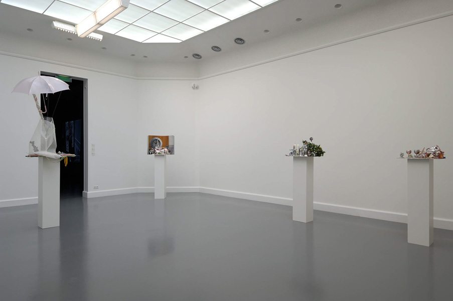 Installation view with artwork by Isa Genzken