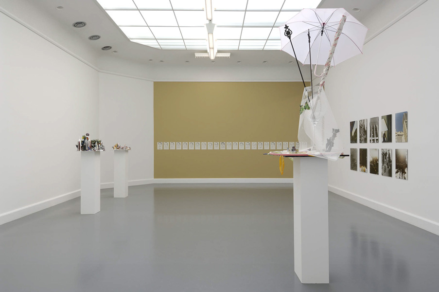 Installation view with artwork by Isa Genzken & Leyla Gediz