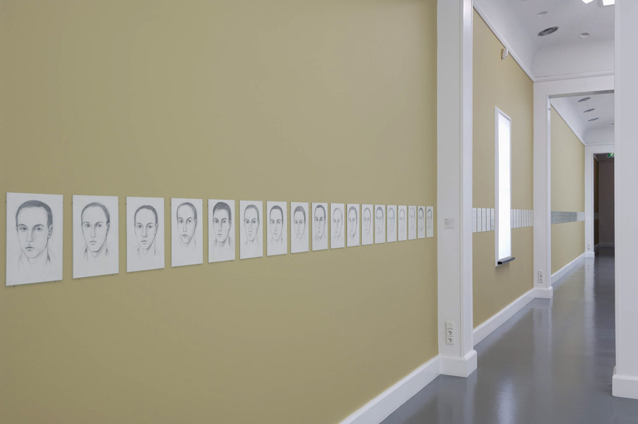 Installation view with artwork by Leyla Gediz