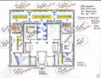 Floor plan Kaprow-exhibition